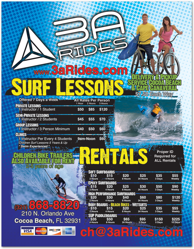3Arides flyer design printing Cocoa Beach FL