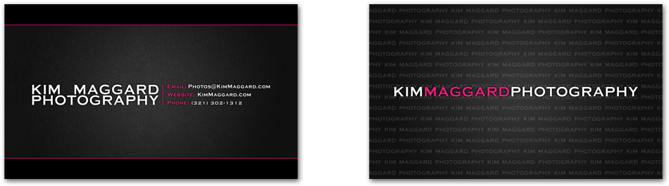 KM Photo - Melbourne FL Business Cards