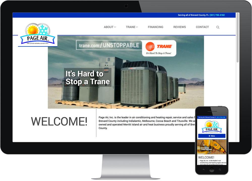 Carousel slider design - Page Air Inc.