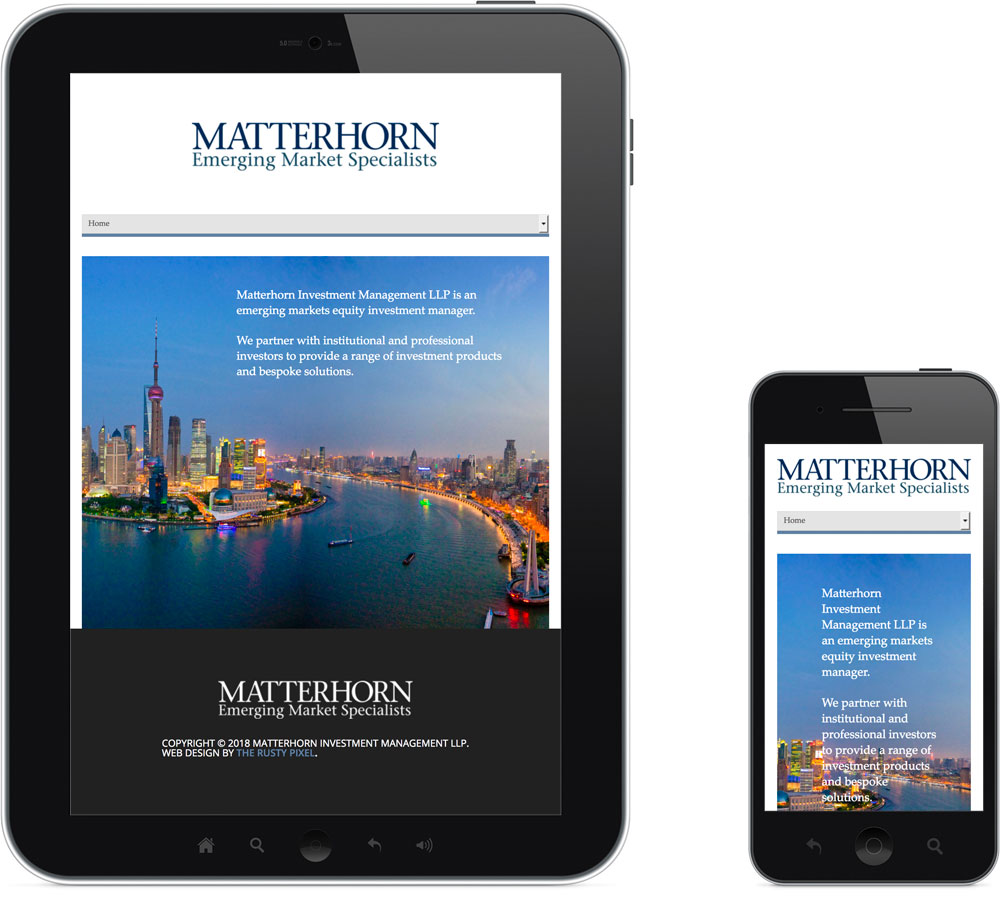 Responsive Mobile Website Design - Matterhorn Investments