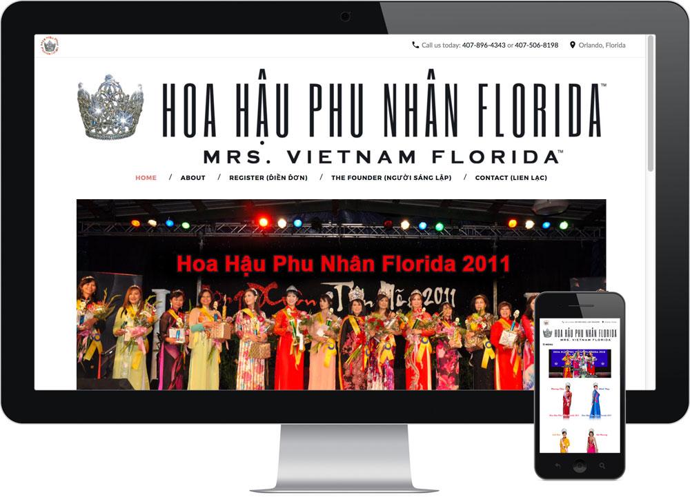 Wordpress web design Orlando FL - Hoa Hau Phu Nhan